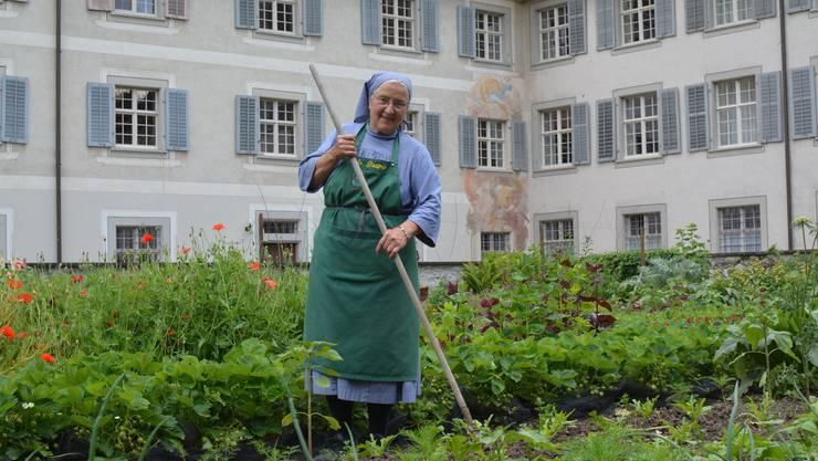 Schwester Beatrice Beerli in ihrem Element.