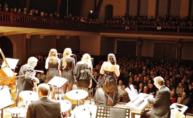 Die vier Ladybirds sammelten im rappelvollen Konzertsaal viele Publikumspunkte