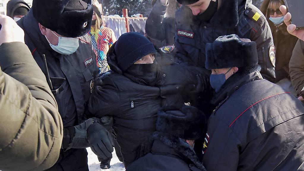 Nawalny-Proteste: Russland verbittet sich Einmischung aus dem Ausland