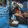 Ein Lastwagenfahrer beim Nickerchen auf einem Lebensmittel-Markt in der kubanischen Hauptstadt Havanna. (Archivbild)