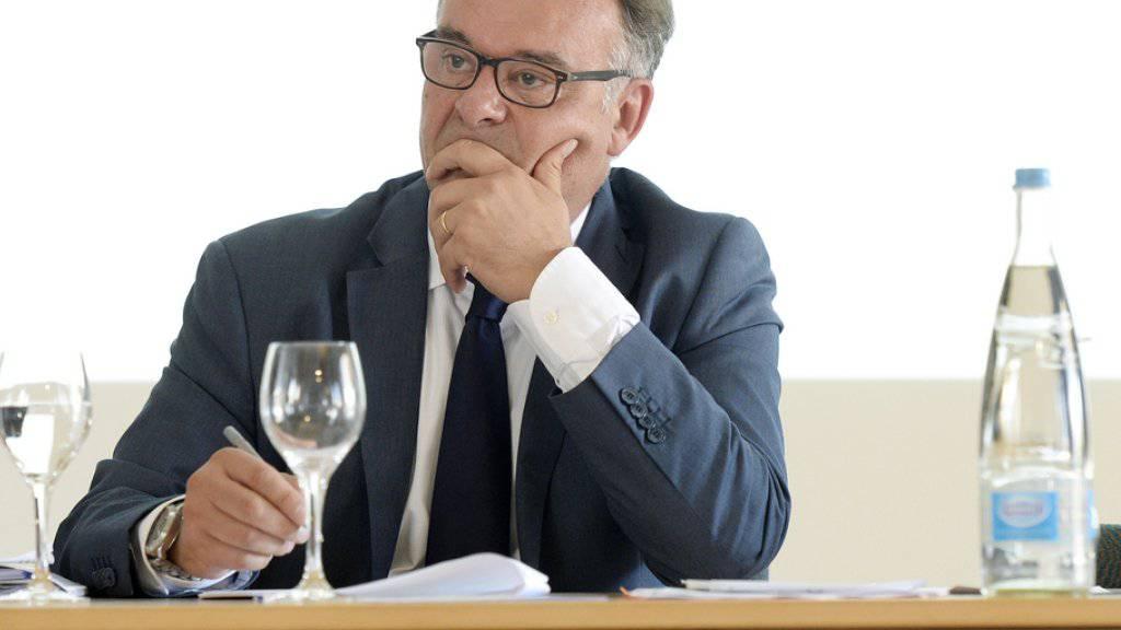 Der Schweizer Bankenombudsman Marco Franchetti an der letztjährigen Jahresmedienkonferenz in Zürich. (Archiv)
