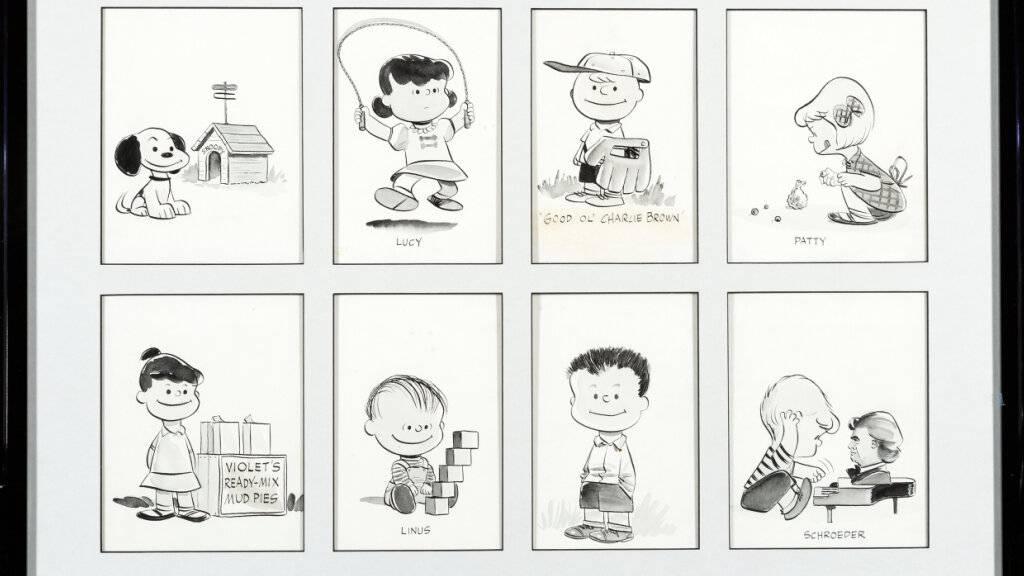 HANDOUT - Acht Zeichnungen der Comicserie «Peanuts» sind in den USA für einen Rekordpreis versteigert worden. Die Porträts der Charaktere Lucy, Linus, Snoopy, Schroeder, Patty, Violet, Shermy und Good Ol' Charlie Brown hätten 288 000 Dollar (etwa 240 000 Euro) eingebracht. Foto: Heritage Auctions/HA.com/dpa - ACHTUNG: Nur zur redaktionellen Verwendung im Zusammenhang mit dem genannten Text und nur bei vollständiger Nennung des vorstehenden Credits