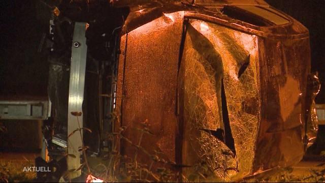 Tödlicher Taxiunfall bei Rothrist