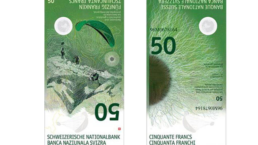Die Schweizerische Nationalbank (SNB) beginnt mit der Ausgabe der neuen 50er-Note am 12. April.