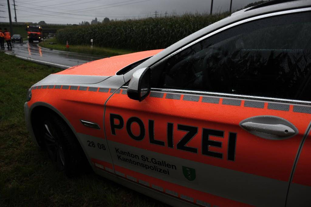 Der Unfall in Goldach (© Kantonspolizei St.Gallen)
