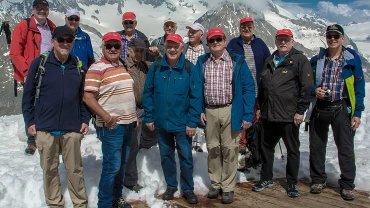 Oberdorfwanderer im Aletschgebiet.