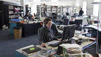 """Redaktionsraum von """"Le Temps"""" in Genf (Archiv)"""