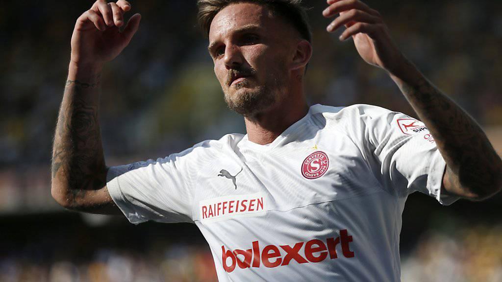Servettes Offensivspieler Sébastien Wüthrich ist in bester Form