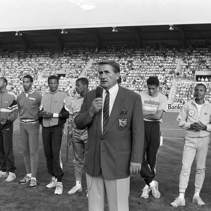 """In Zürich verstirbt die Leichtathletik-Legende Andreas """"Res"""" Brügger, der """"Vater"""" des Meetings Weltklasse Zürich, im hohen Alter von 91 Jahren nach längerer Krankheit. Er hat das internationale Leichtathletik-Meeting im Zürcher Letzigrund zur weltbesten Eintages-Veranstaltung entwickelt. Der aus Meiringen im Berner Oberland stammende ehemalige Topmanager war 1955 Schweizer Meister im Kugelstossen, amtete als Trainer im Leichtathletik-Club Zürich, bevor er die Leitung des Meetings übernahm"""