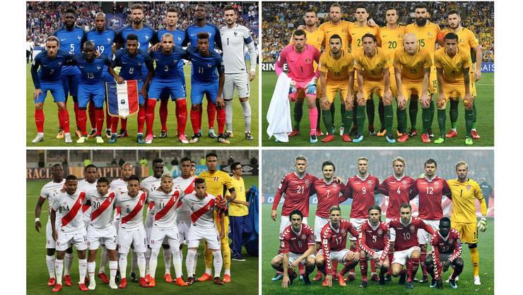 Gruppe C: Frankreich, Australien, Dänemark, Peru