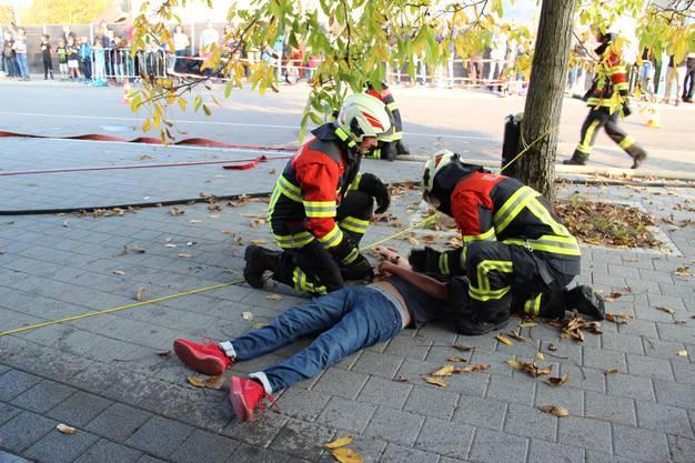 Bergung eines Verletzten