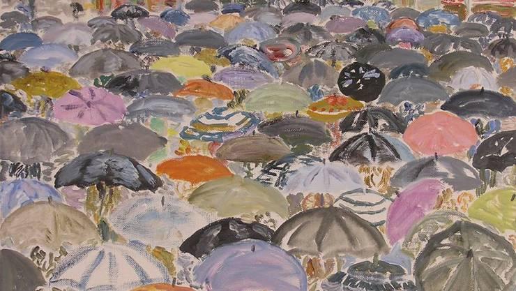 Werner Holenstein - Versammlung im Regen (1983)