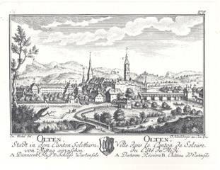 Die alte Holzbrücke in Olten.