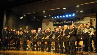 Die Concert Band Langendorf spielte zwei Mal vor ausverkauftem Haus.