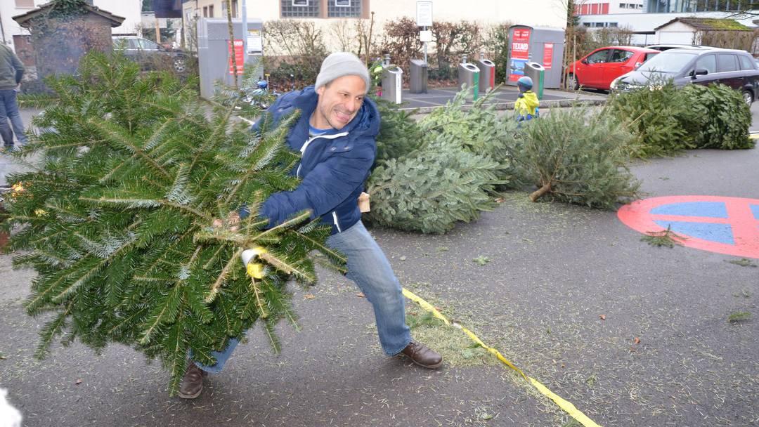 Weihnachtsbaumwerfen Niederwil