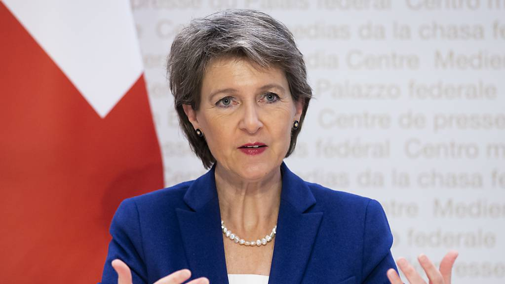 Gemäss dem Chefsprecher der EU-Kommission hat die Schweiz die EU noch nicht über die Details zu den Präzisierungen beim institutionellen Rahmenabkommen informiert. Dies obwohl Bundespräsidentin Simonetta Sommaruga schon mit EU-Kommissionspräsidentin Ursula von der Leyen telefoniert hat. (Archiv)