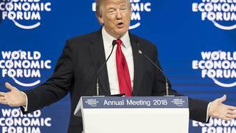 US-Präsident Donald Trump nimmt im nächsten Januar zum zweiten Mal am World Economic Forum in Davos teil. (Archivbild)