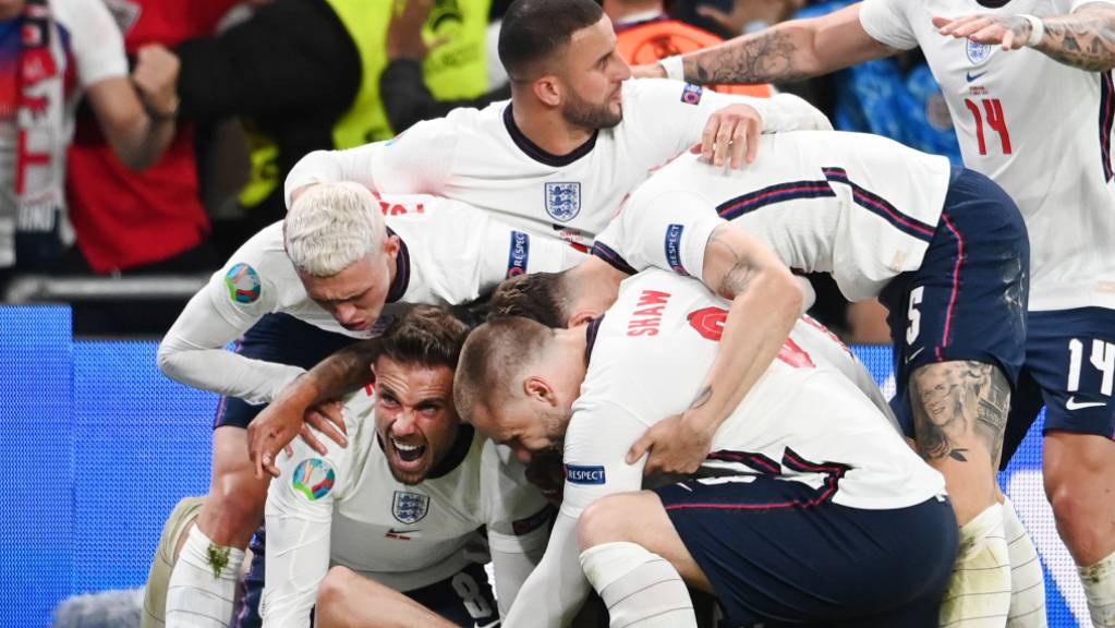 England feiert den Final-Einzug, bis zum Titel ist es aber noch ein weiter Weg.