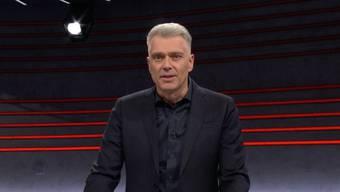 Bei der nächsten Corona-freien Arena, rasiere er sich den Bart ab, so sein Versprechen. Gesagt, getan: Moderator Sandro Brotz frischrasiert.