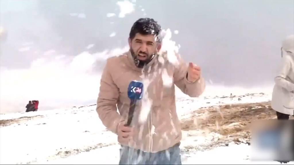 Irak: Schnee nach einem Jahrzehnt