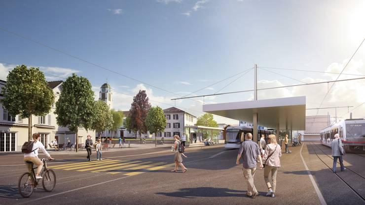 Ohne die zweite Etappe der Limmattalbahn würde in Dietikon (im Bild der Bahnhof) kein Tram verkehren.