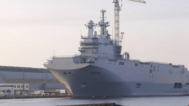 Mistral-Kriegsschiff in Saint-Nazaire (Archiv)