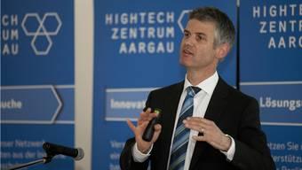 Der Kanton sieht in erster Linie die Vorteile. Bild: Erste Generalversammlung: Martin A. Bopp ist Geschäftsführer des Hightech-Zentrum Aargau.