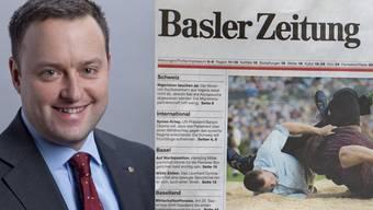 """SVP-Nationalrat Sebastian Frehner wurde von der """"Basler Zeitung"""" mit einer alten Geschichte konfrontiert, die längst gütlich beigelegt worden sei."""