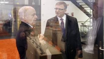 Bundespräsident Ueli Maurer (links) und NDB-Direktor Markus Seiler