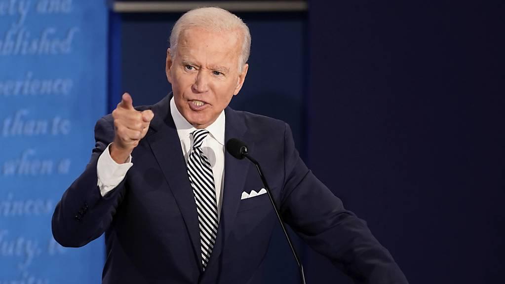 dpatopbilder - Joe Biden, Präsidentschaftskandidat der Demokraten, spricht während der ersten Präsidentschaftsdebatte. Foto: Morry Gash/AP Pool/dpa