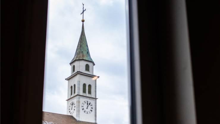 Im Turm der Kirche St. Mauritius hat es Platz für eine Antennenanlage.