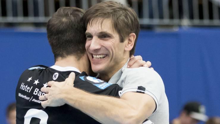 Pfadi Winterthur und Trainer Christian Brüngger entthronten den Titelverteidiger Wacker Thun