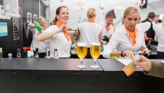 An der Jubiläumsfeier 2020 in Wettingen wird man – wie hier an der Badenfahrt 2017 – sein Bier mit Bargeld begleichen können.