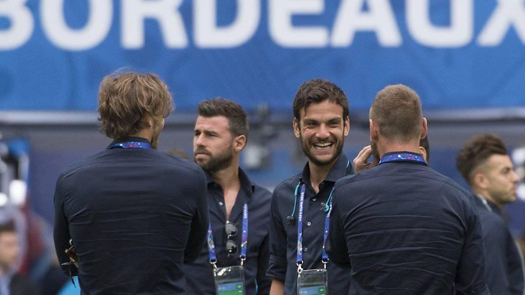 Die Italiener inspizieren das Matmut-Stadion von Bordeaux, den Schauplatz des Duells gegen Deutschland