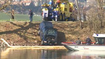 Auto in Staad in der Aare versunken