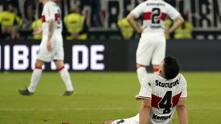 Ein Bild des Jammers: Der so hoffnungsvoll in die Saison gestartete VfB Stuttgart muss zum dritten Mal den Gang in die 2. Bundesliga antreten