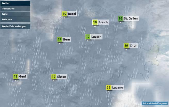 Wetteraussichten für Samstag 14 Uhr
