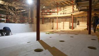 Sanierung des Stadttheaters: Im April war der Umbau noch im vollem Gange, mittlerweile laufen die Abschlussarbeiten