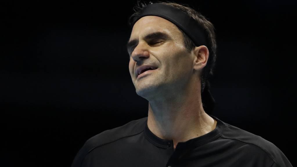 Das lief nicht wie gewünscht: Nach dem verlorenen Halbfinal an den ATP Finals ärgert sich Roger Federer über die vergebenen Chancen, sieht die Niederlage aber nicht allzu dramatisch