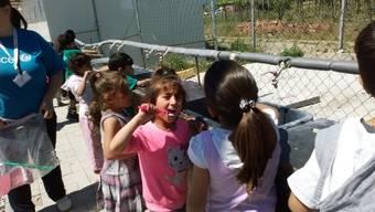 flüchtlingskinder zähneputzen