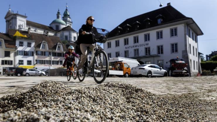 Sanddünen auf dem Klosterplatz.
