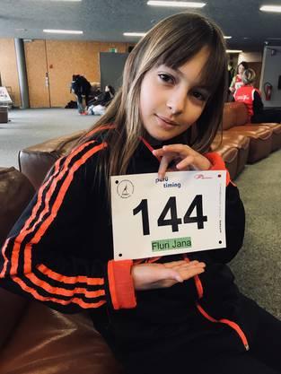 Jana Fluri mit ihrer Startnummer 144.