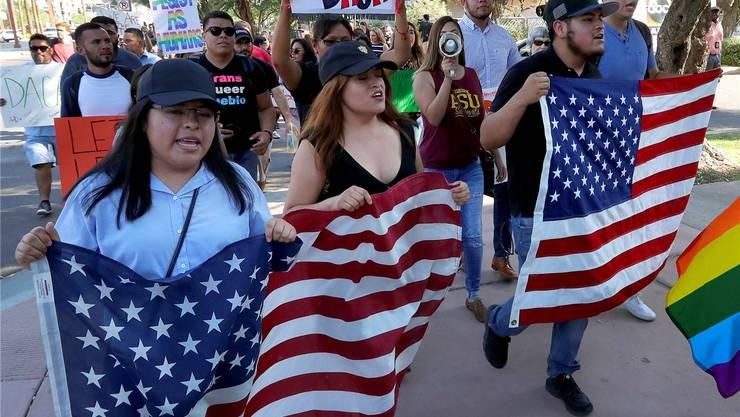 Amerika protestiert für die «Dreamers»: Der Präsident lässt das DACA-Programm auslaufen, das jungen Migranten eine Perspektive in den USA gibt. Matt York/AP/Keystone