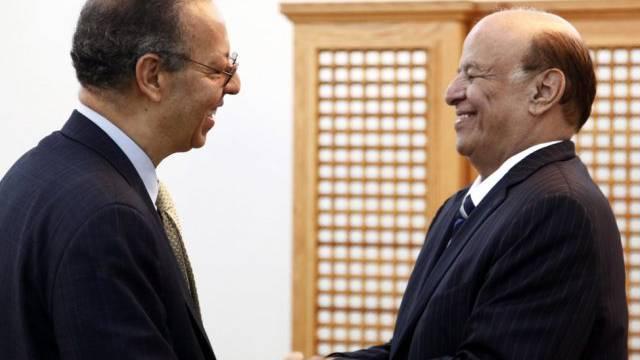 Archivbild eines Treffens von Präsident Hadi mit Benomar