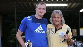 Jetzt sind sie Gegner: Koblenz-Captain Hasan Brkic und Radi Schibli bei der Aufstiegsfeier Ende der letzten Saison.