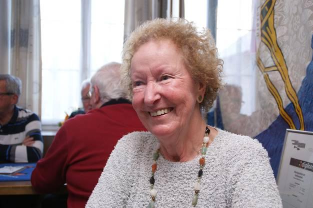 Berta Lüscher, 77, Seengen: «Ich habe schon als Kind gejasst und spiele auch zu Hause viel. Ein Turnier bietet einen richtigen Nervenkitzel. Wenn es nicht läuft, kann ich mich schon ärgern, aber ich zeige es nicht. Ich frage den Partner höchstens, warum er so gespielt habe.»