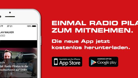 Jetzt im App-Store: Die neue Radio Pilatus App