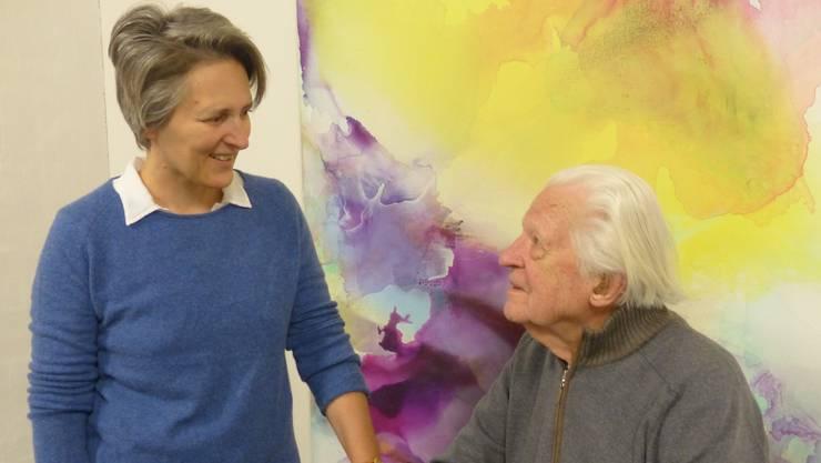 Malerei und Bildhauerkunst im Dialog: Nicole Schmölzer und Erwin Rehmann.