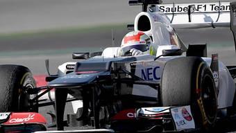 Sergio Pérez mischt im Sauber-Ferrari erneut vorne mit