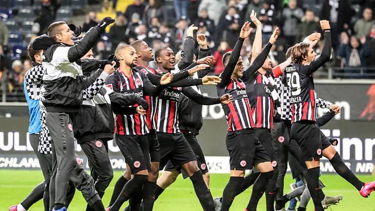 Die Freude ist zurück: Eintracht Frankfurt greift mit seinem Sieg gegen Leipzig ins Titelrennen ein